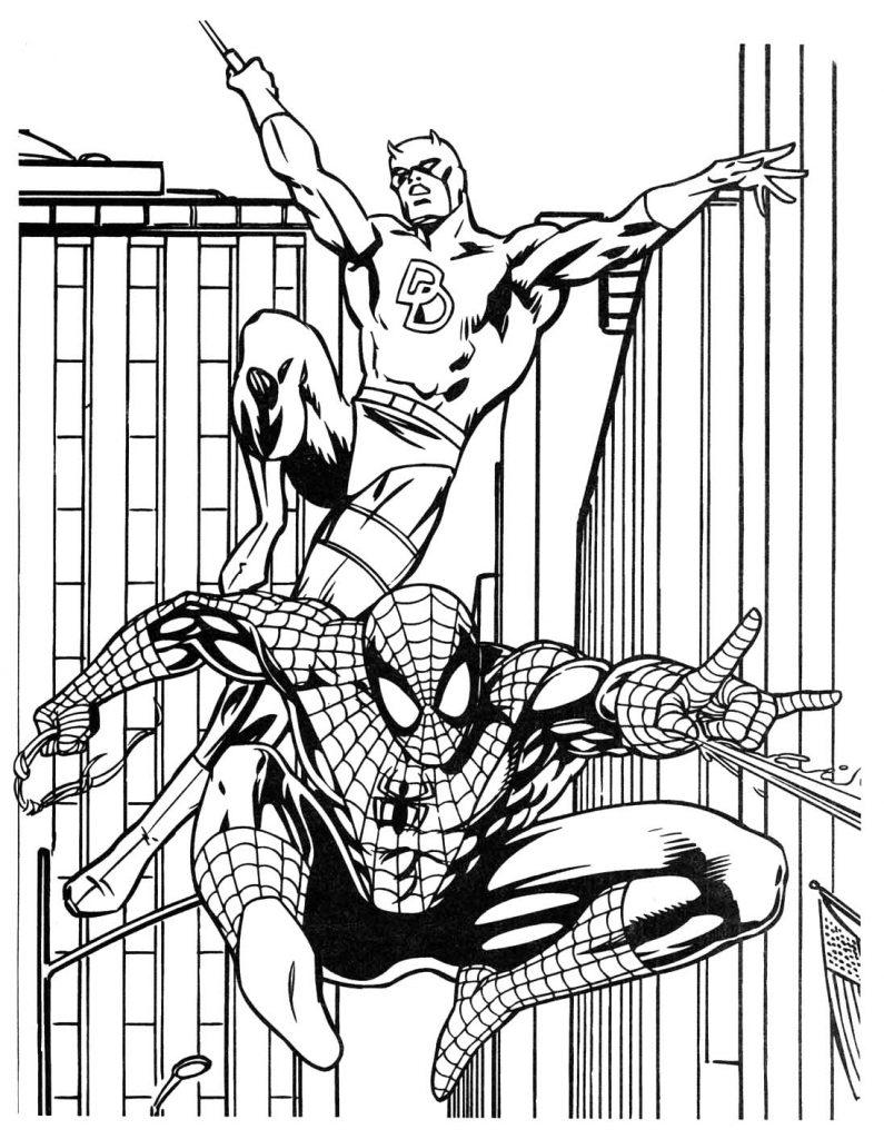 Spiderman Superhero Coloring Page
