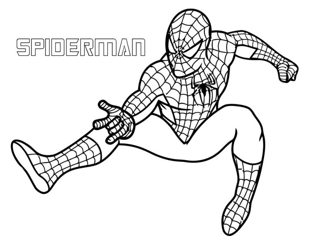 Spiderman Superhero Coloring Pages