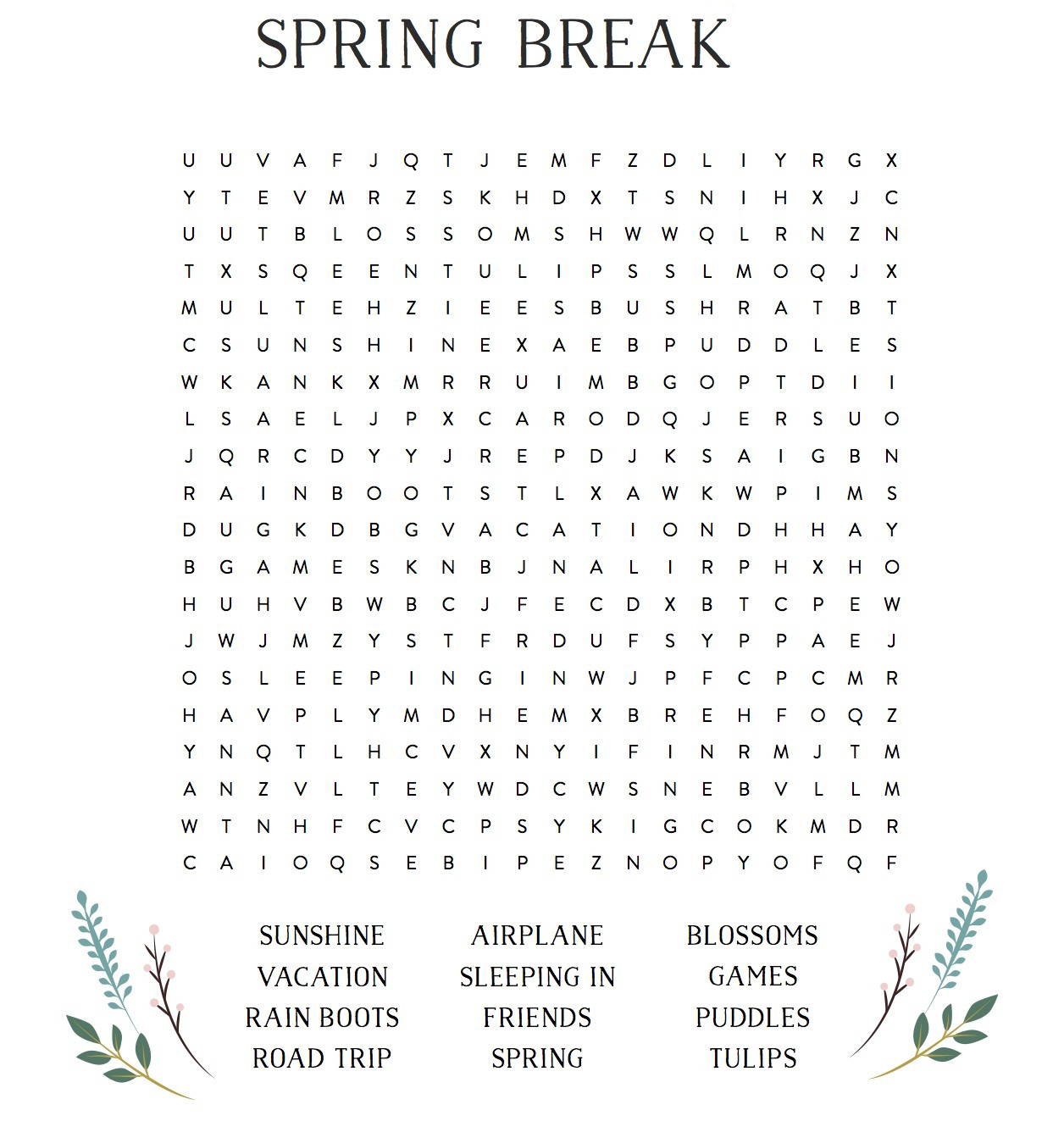 It's just an image of Printable Spanish Word Search pertaining to high school student