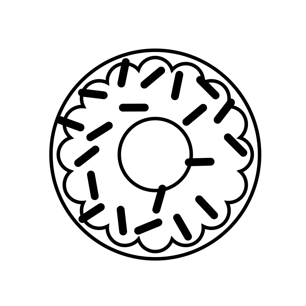 Sprinkles Donut Coloring Pages