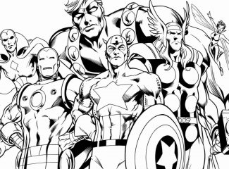 Superhero Coloring Page Avengers