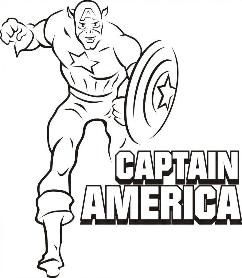 Superhero Coloring Pages - Captain America