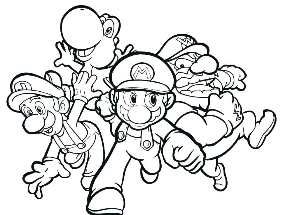 Superhero Coloring Pages - Mario