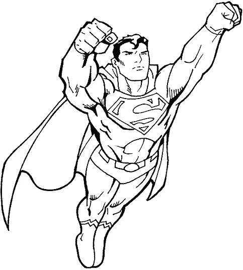 Superhero Coloring Pages - Superman