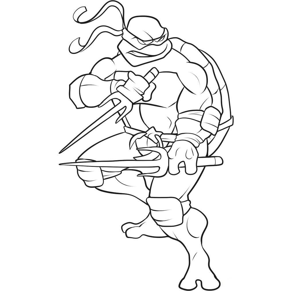 Superhero Coloring Pages - TMNT