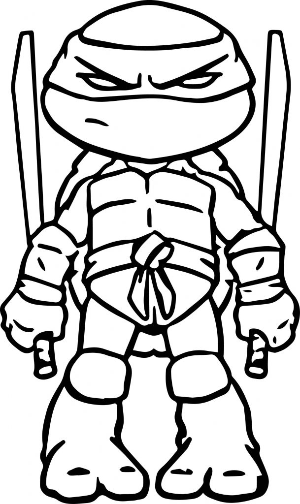 TMNT Cartoon Coloring Page