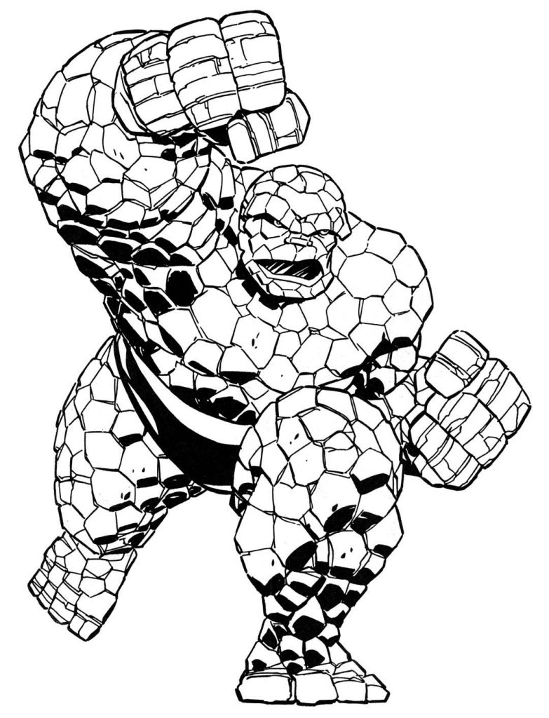 Thing Superhero Coloring Pages