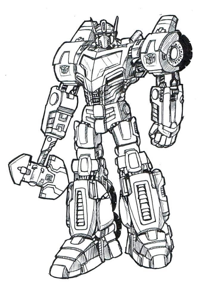 Transformers Optimus Prime Coloring Page Printables