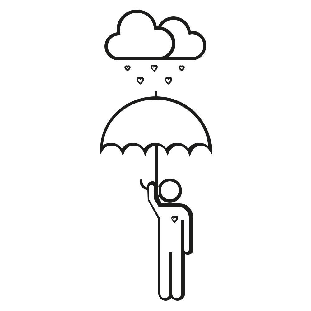 Umbrella Icon Coloring Page