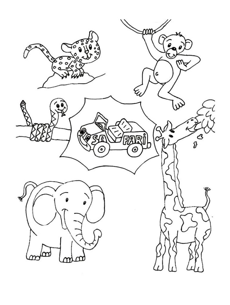 Wild Animal Coloring Pages Best