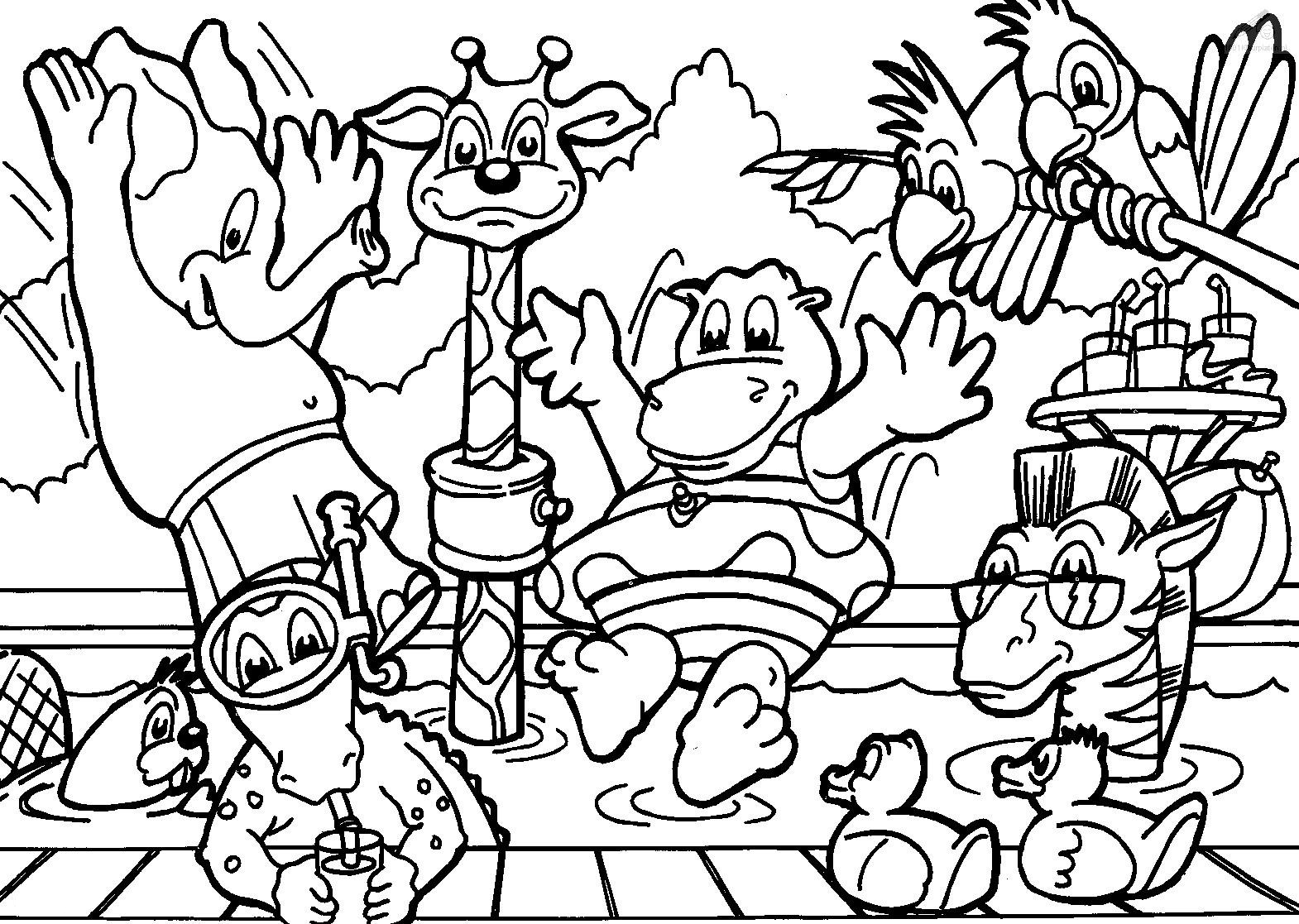 wild animals free coloring pages | Wild Animal Coloring Pages - Best Coloring Pages For Kids