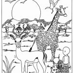 Wild Safari Animals Coloring Pages