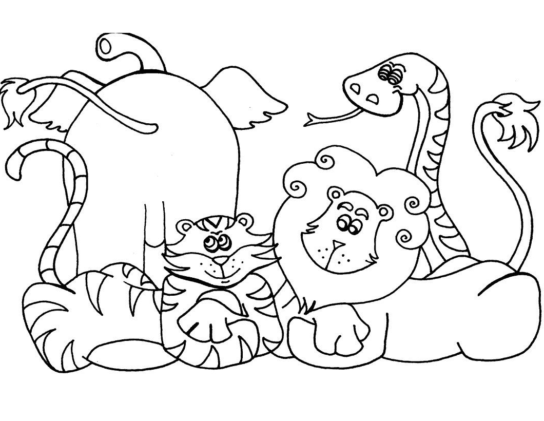 Wild Animal Coloring Pages - Best Coloring Pages For Kids