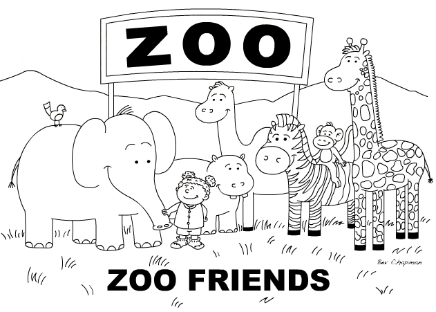 educational coloring pages zoo animals - photo#25