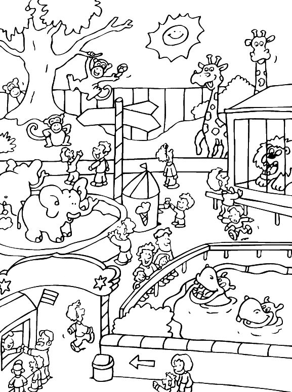 - Zoo Animals Coloring Pages - Best Coloring Pages For Kids