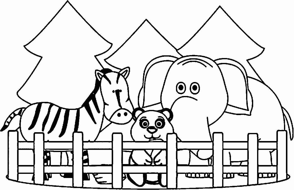 educational coloring pages zoo animals - photo#23