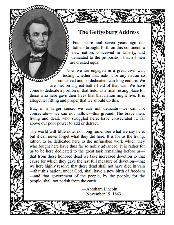 Abraham Lincoln Info Worksheets