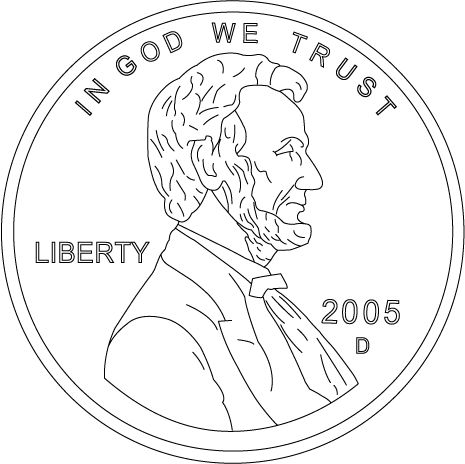 Abraham Lincoln Penny Front Worksheets