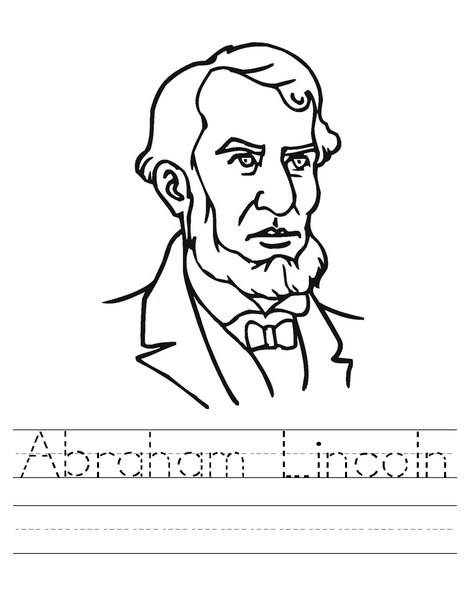 Abraham Lincoln Word Trace Worksheet