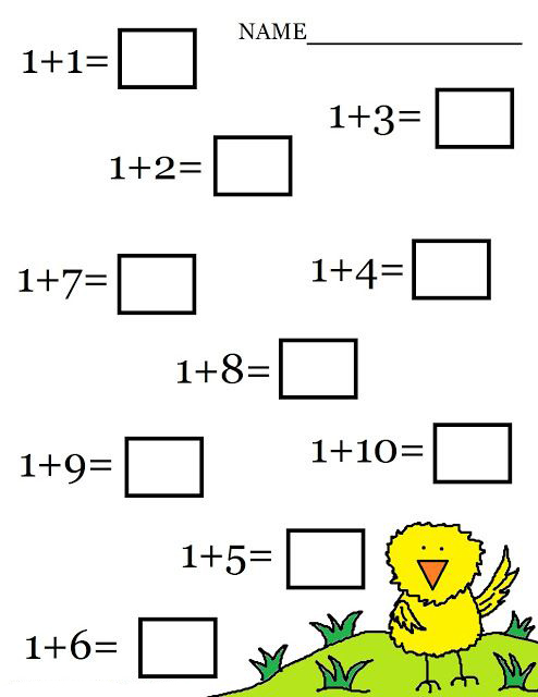 Add Kindergarten Math Worksheets