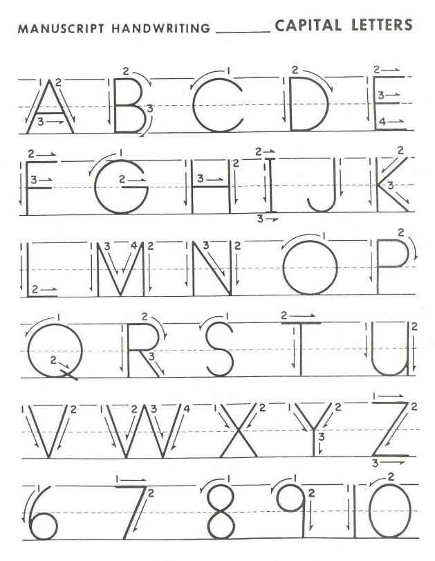Alphabet - Kindergarten Handwriting Worksheets