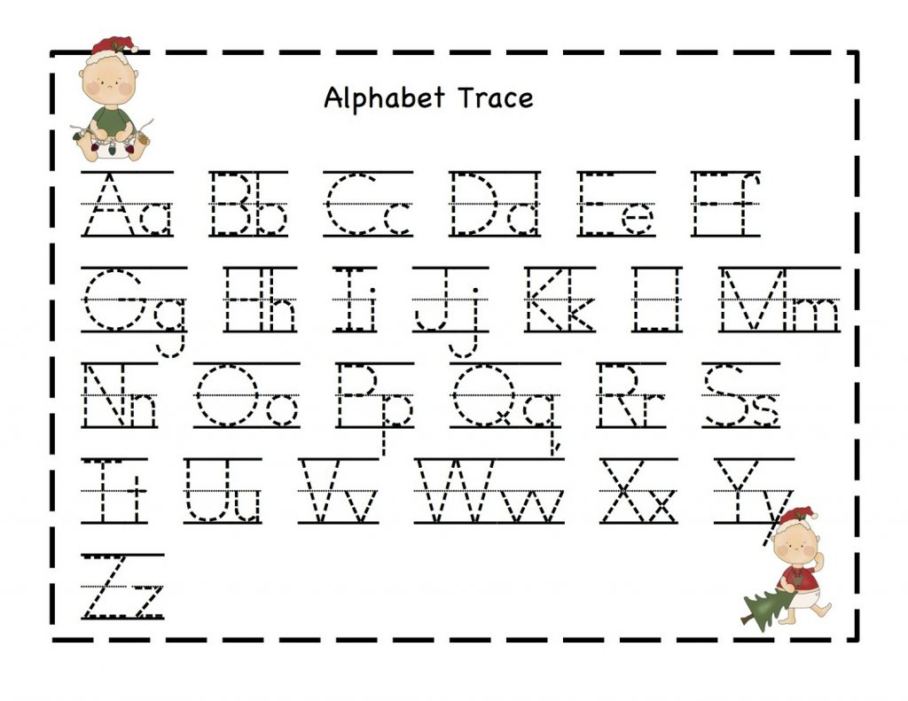 Alphabet Trace Worksheet