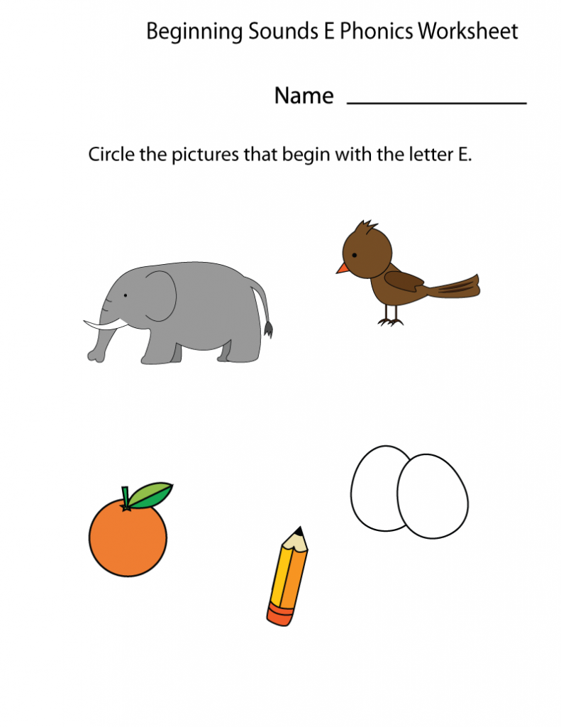 Circle the Picture Kindergarten Phonics 2