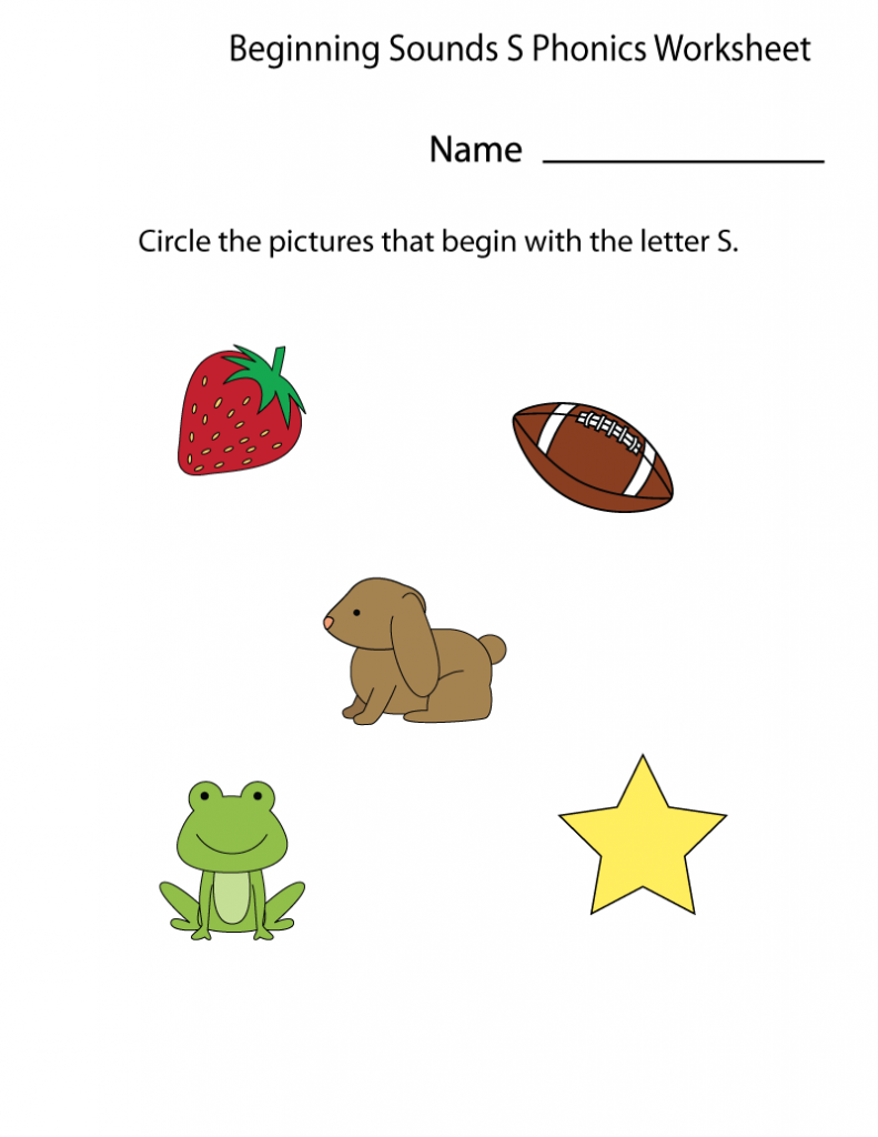 Circle the Picture Kindergarten Phonics
