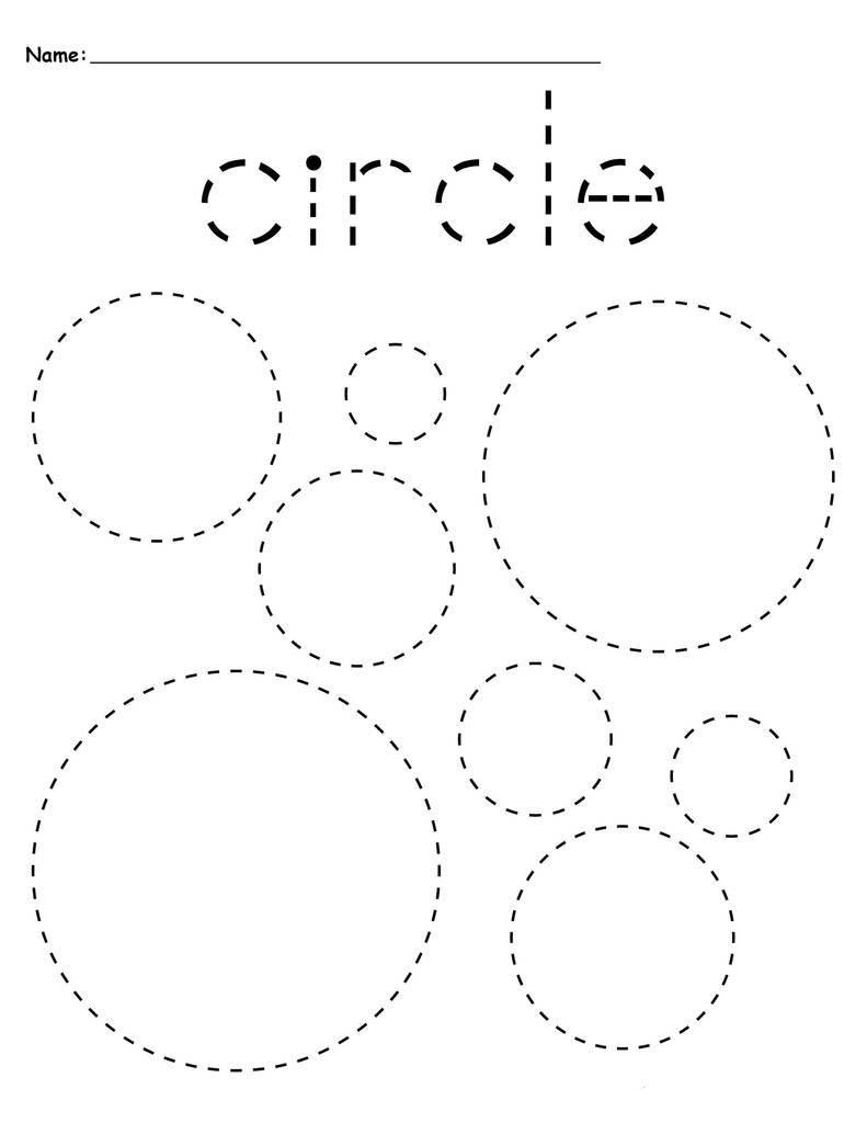 Circles Preschool Tracing Worksheets