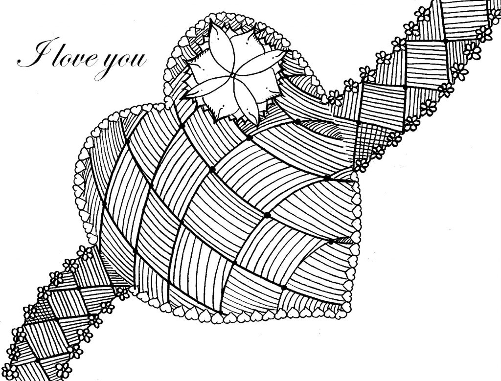 Coloring Pages for Adults Heart