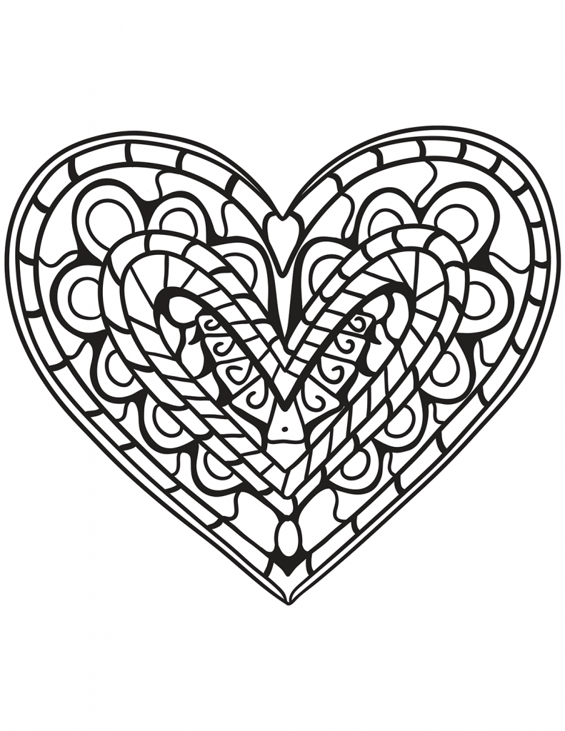 It is an image of Terrible Adult Coloring Pages Hearts