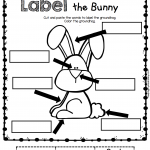 Easter Bunny English Kindergarten Worksheet