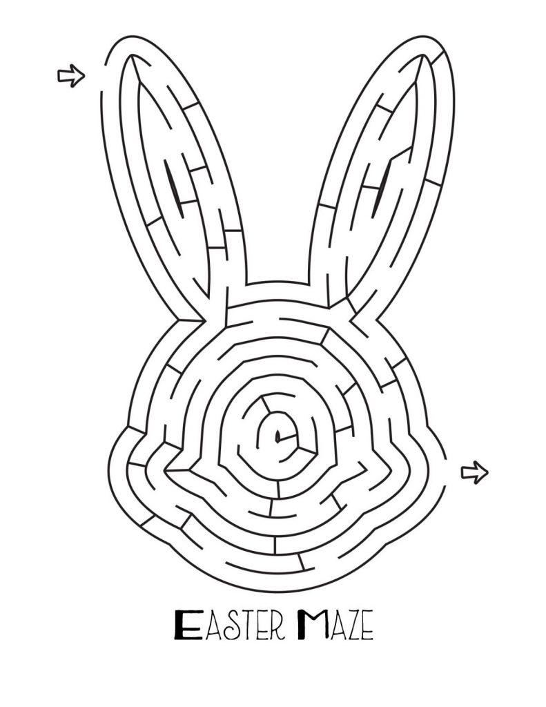 Easter Bunny Head Maze