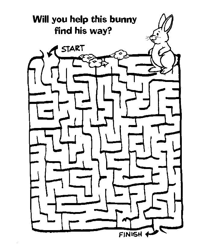 Easter Bunny Mazes