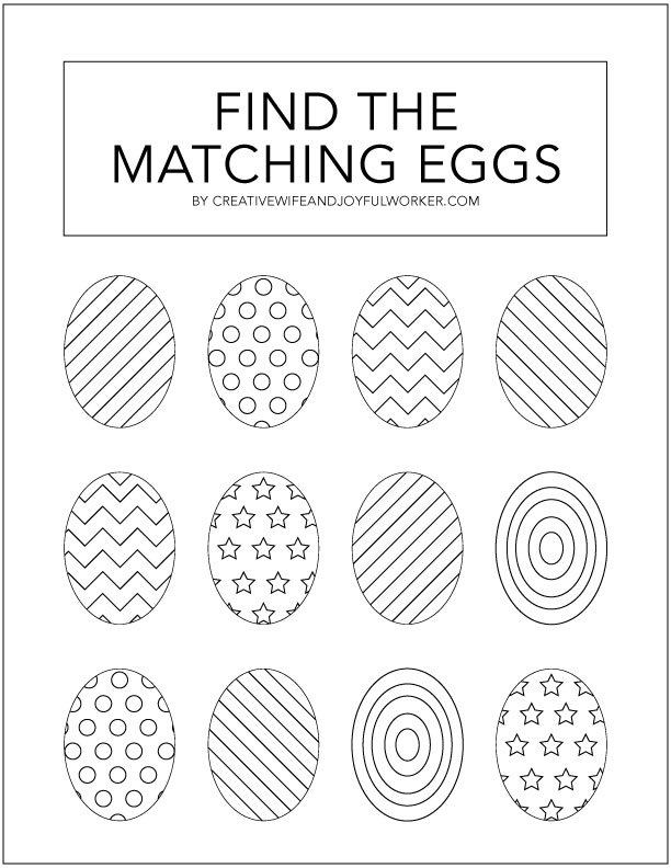 Easter Egg Matching Kindergarten