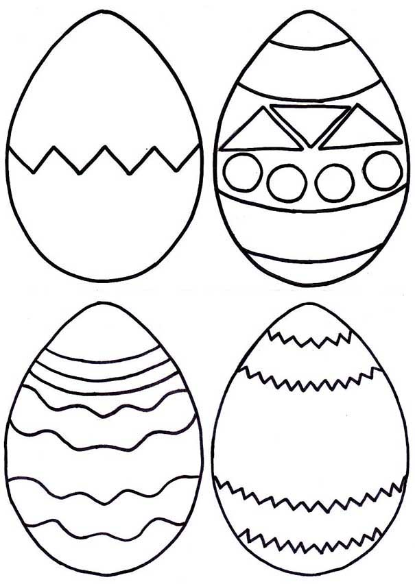 easter egg coloring pages preschool - photo#22