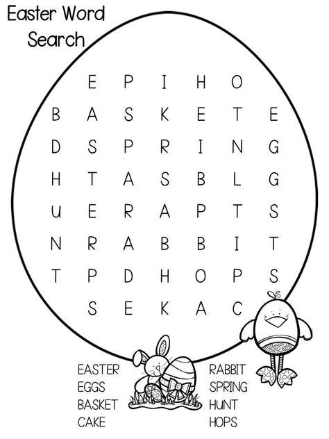 Easter Holiday Word Search Puzzle