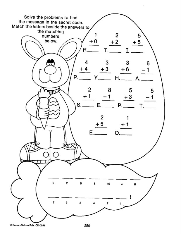 Easter Worksheets - Best Coloring Pages For Kids