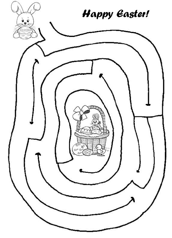 Easy Easter Mazes for Kindergarten