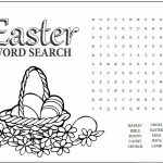 Easy Easter Word Search Puzzle