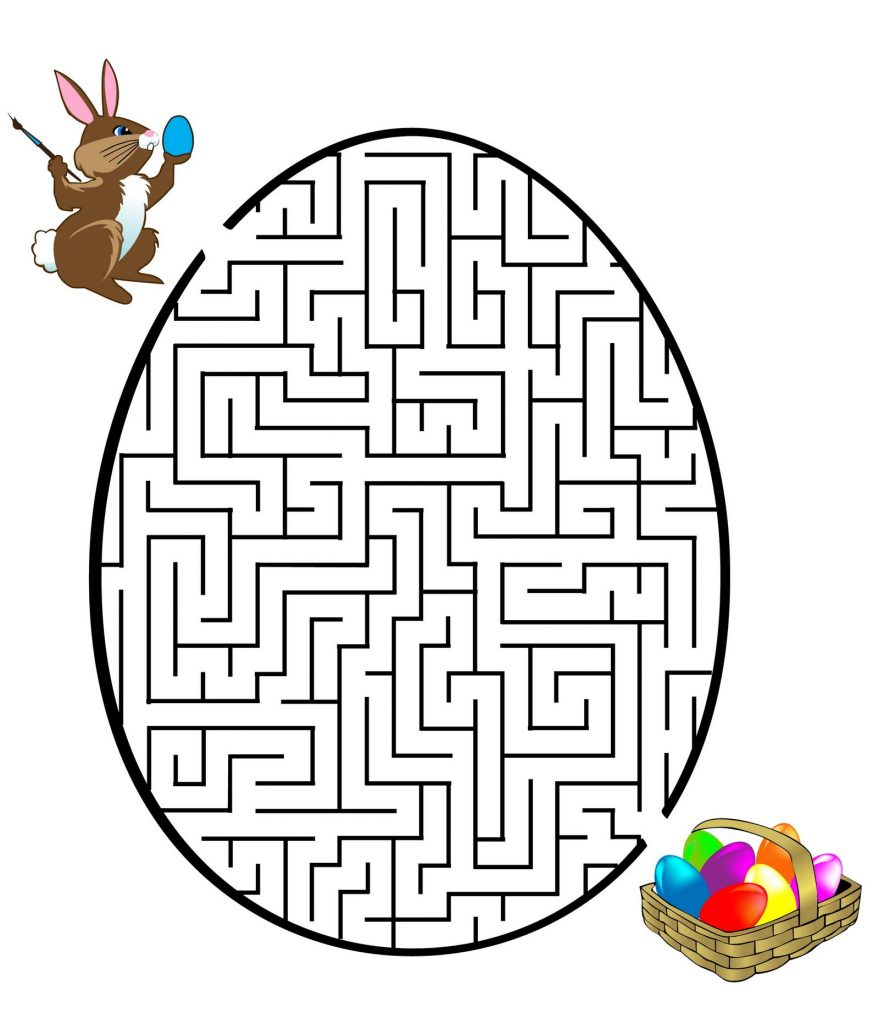 Find Your Way Easter Maze