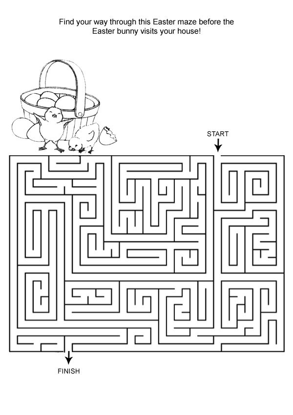 Find Your Way Easter Mazes