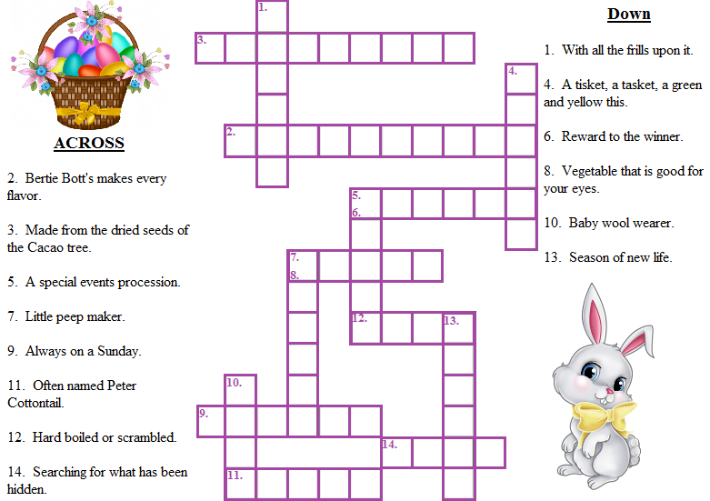 Free Printable Easter Crossword Puzzle