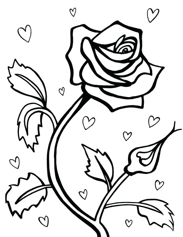 - Roses And Hearts Coloring Pages - Best Coloring Pages For Kids