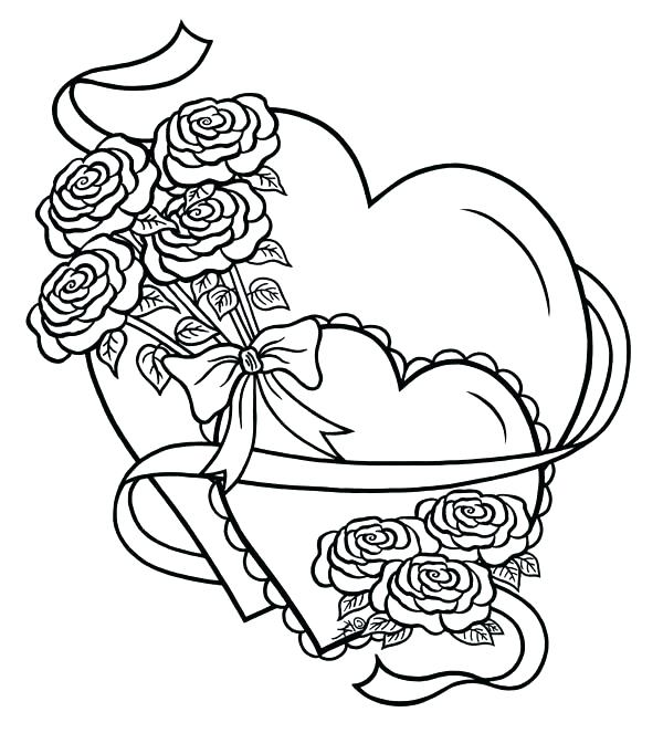 Roses #19 (Nature) – Printable coloring pages | 663x600
