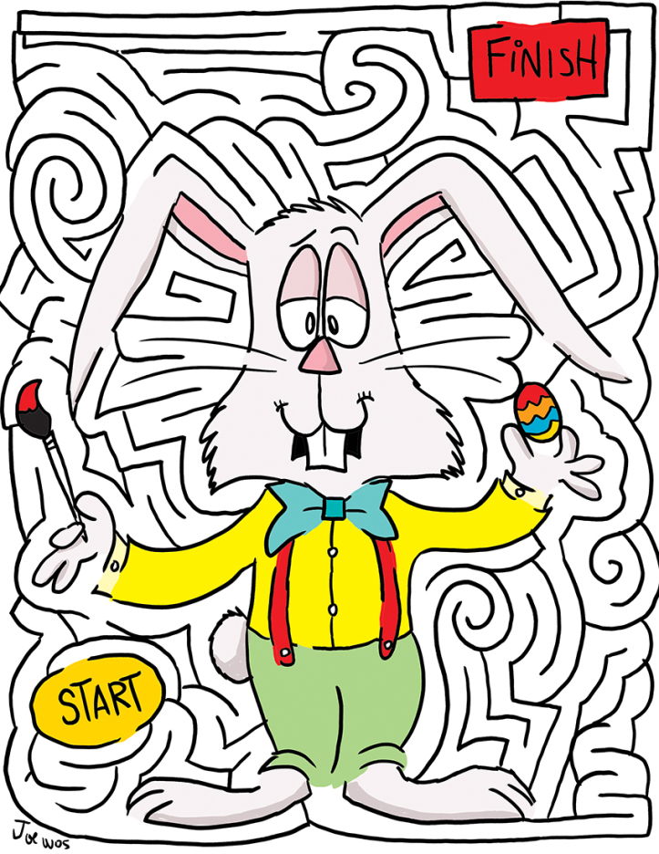 Fun Easter Mazes on free easter preschool worksheets