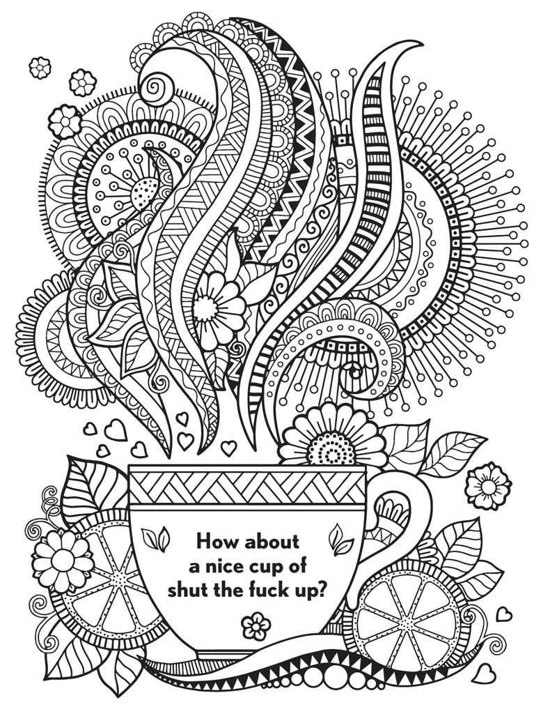 Funny Adult Swear Word Coloring Page