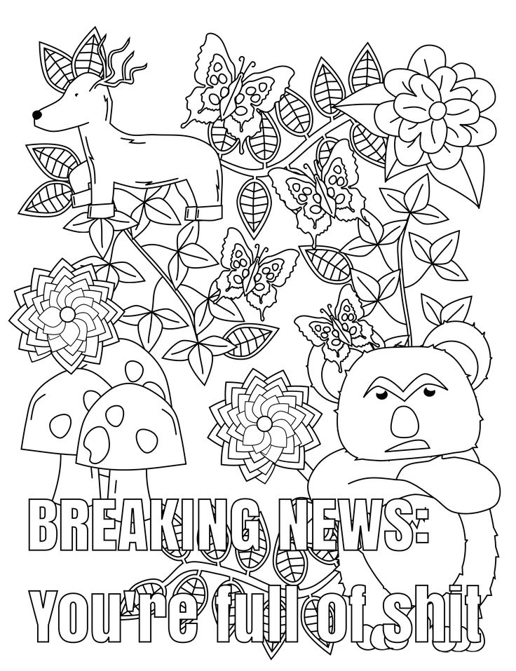 Funny Swear Word Adult Coloring