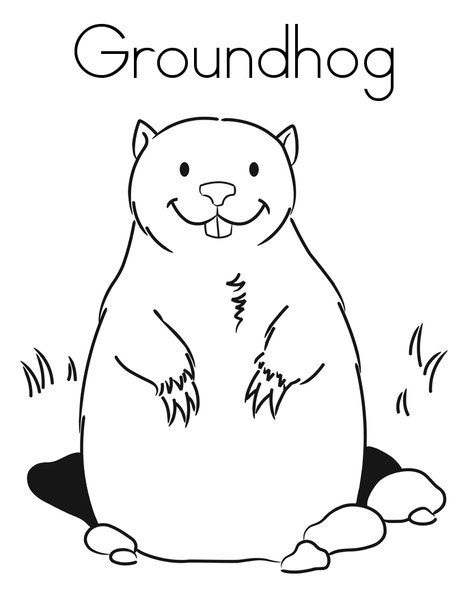 Groundhog Coloring Pages Best