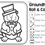 Groundhog Day Coloring Worksheets